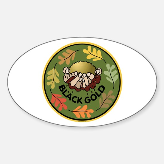 Black Gold Composting Oval Bumper Stickers