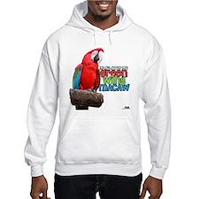 Green Wing Macaw Hoodie