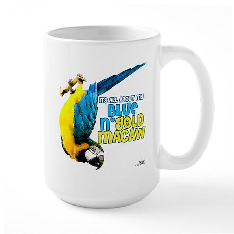 Blue & Gold Macaw Large Mug