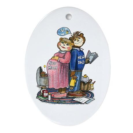 New Parents - Oval Ornament