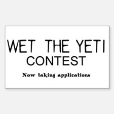 Wet the YETI Rectangle Decal