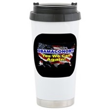 Obamaconomy-blue Travel Mug