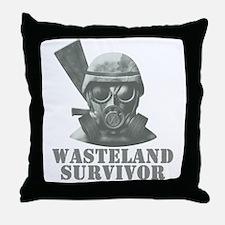 Wasteland Survivor Throw Pillow