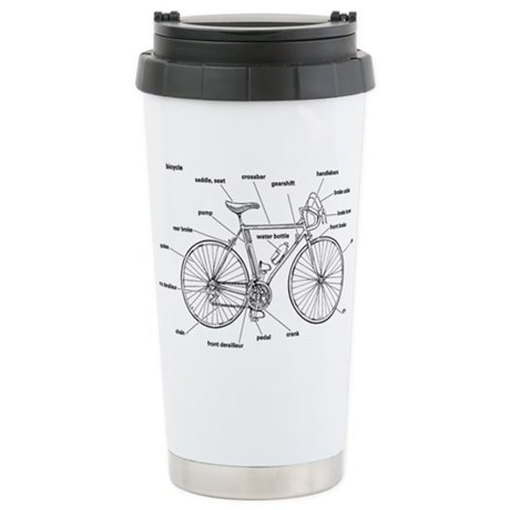 Bicycle Anatomy Stainless Steel Travel Mug