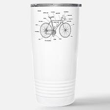 Bicycle Anatomy Stainless Steel Travel Mug