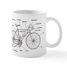 Bicycle Anatomy Small Mug