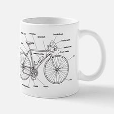 Bicycle Anatomy Small Mugs