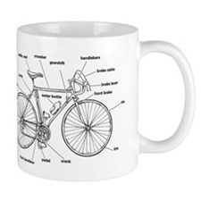 Bicycle Anatomy Small Small Mug