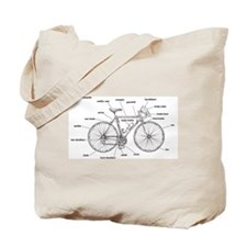 Bicycle Anatomy Tote Bag