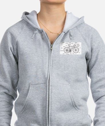 Bicycle Anatomy Zip Hoodie