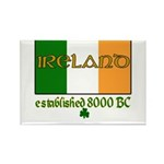 Ireland: Established 8000 BC Rectangle Magnet (100