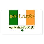 Ireland: Established 8000 BC Rectangle Sticker 50