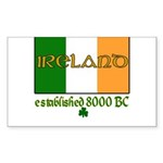Ireland: Established 8000 BC Rectangle Sticker 10