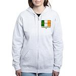Ireland: Established 8000 BC Women's Zip Hoodie