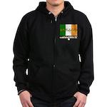 Ireland: Established 8000 BC Zip Hoodie (dark)