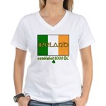 Ireland: Established 8000 BC Women's V-Neck T-Shir