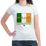 Ireland: Established 8000 BC Jr. Ringer T-Shirt