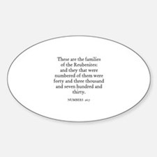NUMBERS 26:7 Oval Decal