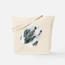Grey Bearded Collie Beardie Tote Bag