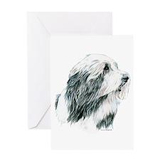 Grey Bearded Collie Beardie Greeting Card
