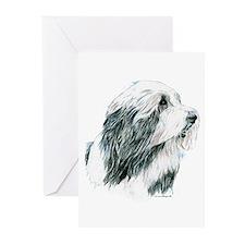 Grey Bearded Collie Beardie Greeting Cards Pk 20