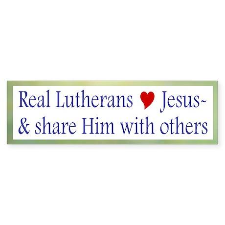 Jesus and Sharing Him Bumper Sticker
