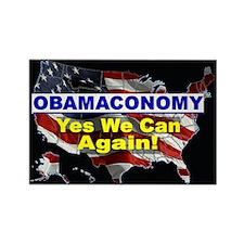 Obamaconomy-blue Rectangle Magnet