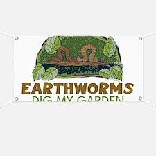 Garden Earthworms Banner