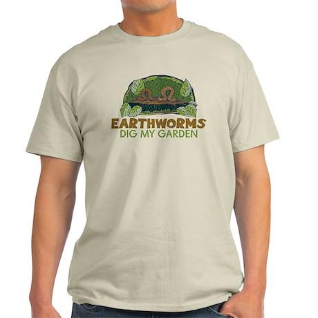 Garden Earthworms Light T-Shirt