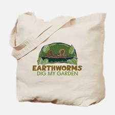 Garden Earthworms Tote Bag
