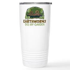 Garden Earthworms Travel Mug