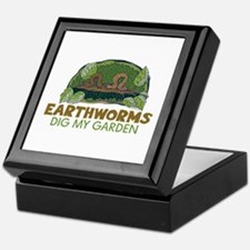 Garden Earthworms Keepsake Box