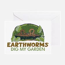 Garden Earthworms Greeting Card