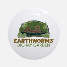 Garden Earthworms Ornament (Round)