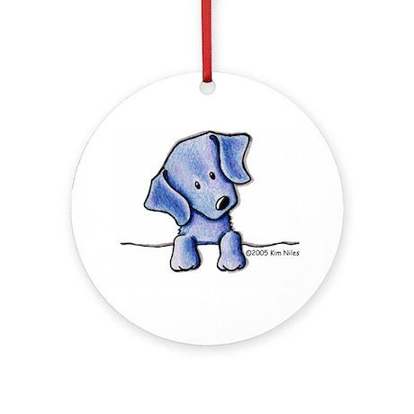 Weimaraner Pocket Pup Ornament (Round)