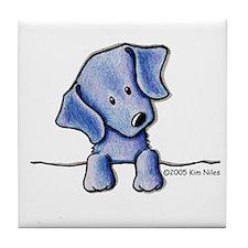 Weimaraner Pocket Pup Tile Coaster