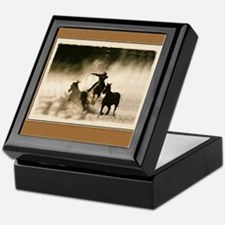 Deluxe Cowboy Roundup Bookplate Storage Box