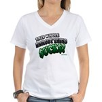 This whole bailout thing $UCK Women's V-Neck T-Shi