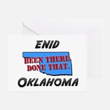 enid oklahoma - been there, done that Greeting Car