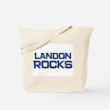 landon rocks Tote Bag