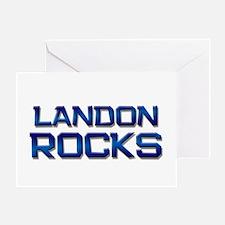 landon rocks Greeting Card