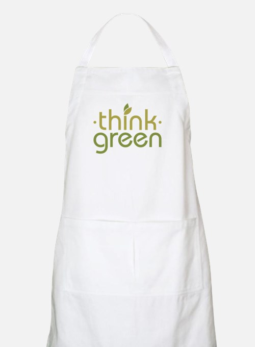 Think Green [text] BBQ Apron