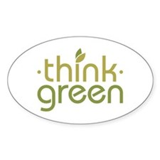Think Green [text] Decal