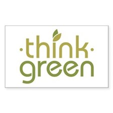 Think Green [text] Rectangle Decal