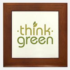 Think Green [text] Framed Tile
