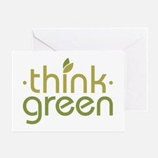 Think Green [text] Greeting Card