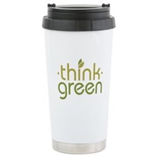 Think Green [text] Travel Mug