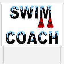 Swim Coach Yard Sign