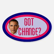 Obama CHANGE Tip Jar Oval Decal