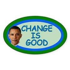 Obama CHANGE Tip Jar Oval Decal